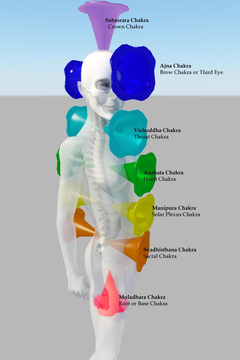 The Chakras With The Tarot Keys: Kundalini Surge: Chakras