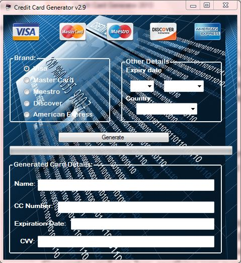 Credit Card Generator With Unlimited Money