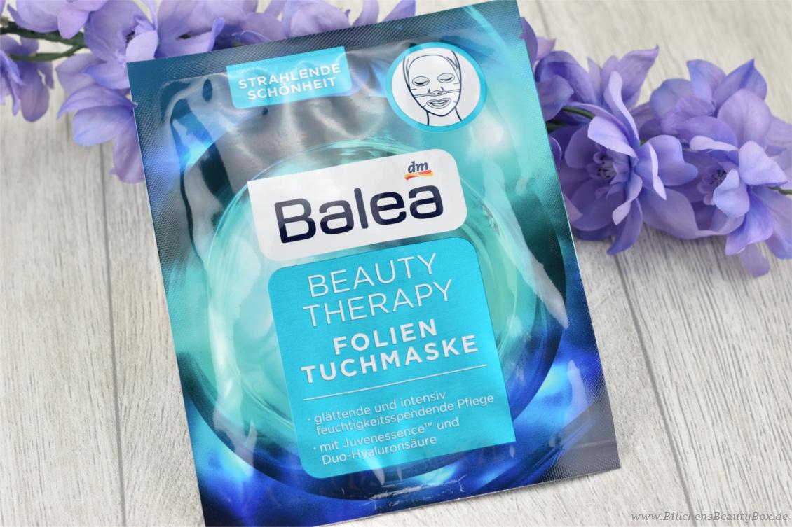 Neuheiten aus der Drogerie im Test - Balea Beauty Therapy Folien-Tuchmaske