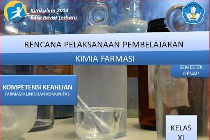 RPP Kimia Farmasi Kelas XI SMK/MAK Kurikulum 2013 Revisi 2018 Semester Genap