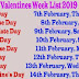 Valentine week list 2019 images