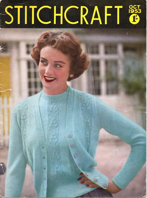 The Vintage Pattern Files: Free 1950s Knitting Pattern - Stitchcraft Oct 1953