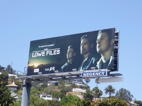 Lowe Files series launch billboard