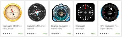 Aplikasi Kompas di Android