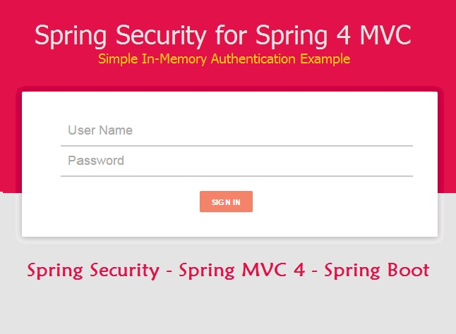 Spring Security for Spring MVC 4 Application Simple Example