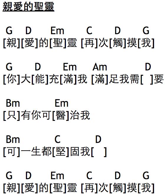 親愛的聖靈 [#Chord] [039] [#敬拜詩歌100首] [#國] [#詩歌] [#靈修]   JesusLovesHK