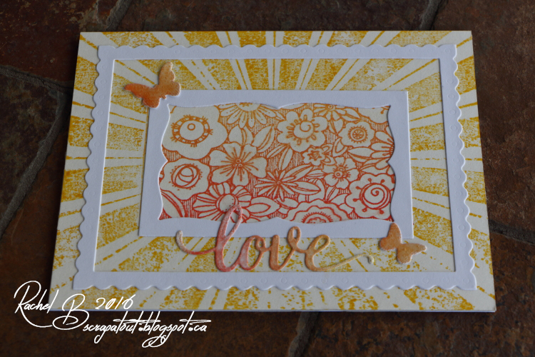 Scrapatout - Handmade card, Impression Obsession, Flowers, Butterflies, Love