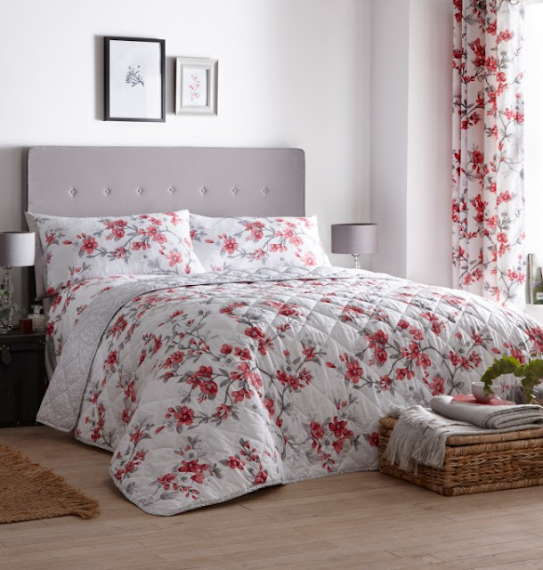 Floral bedspread from Yorkshire Linen