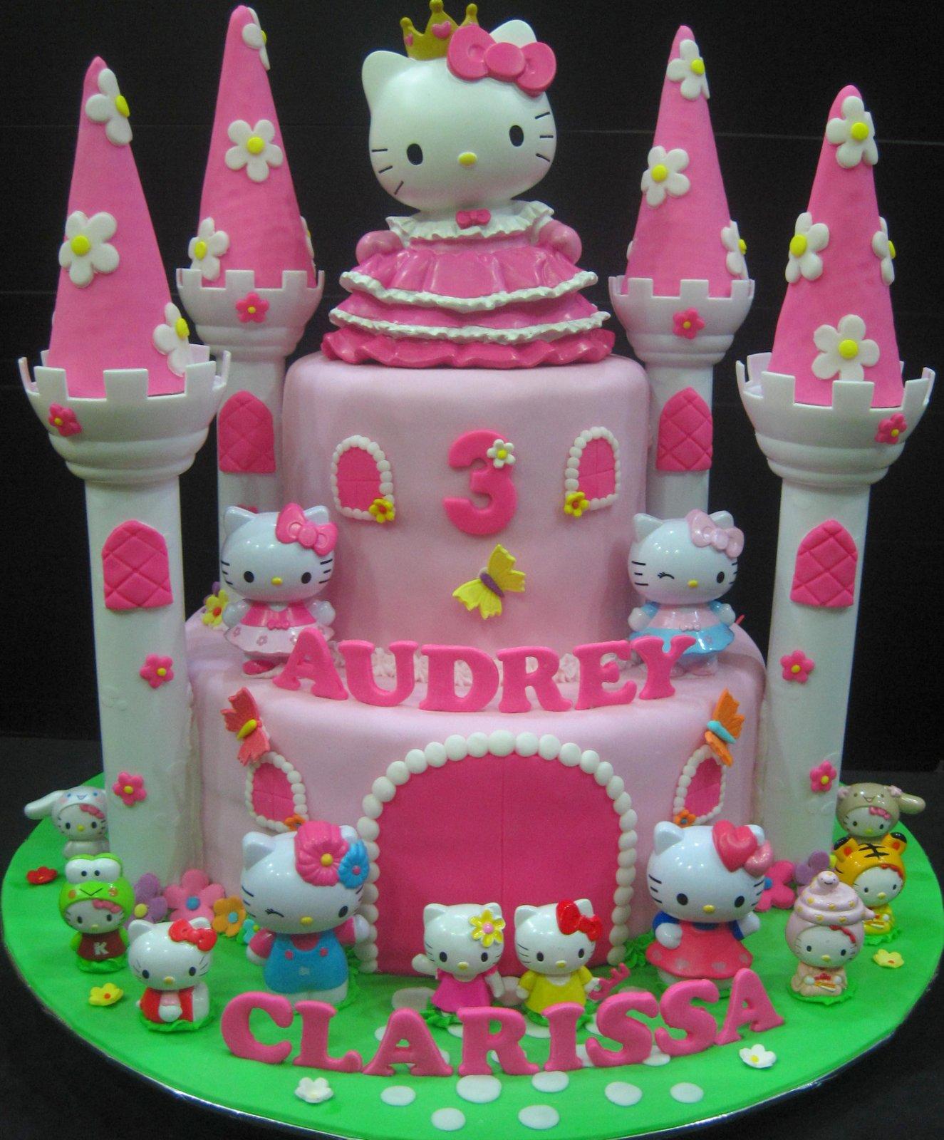 Cupcake Divinity Hello Kitty Castle Cake
