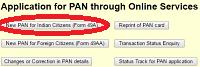 Apply new pancard procedure online