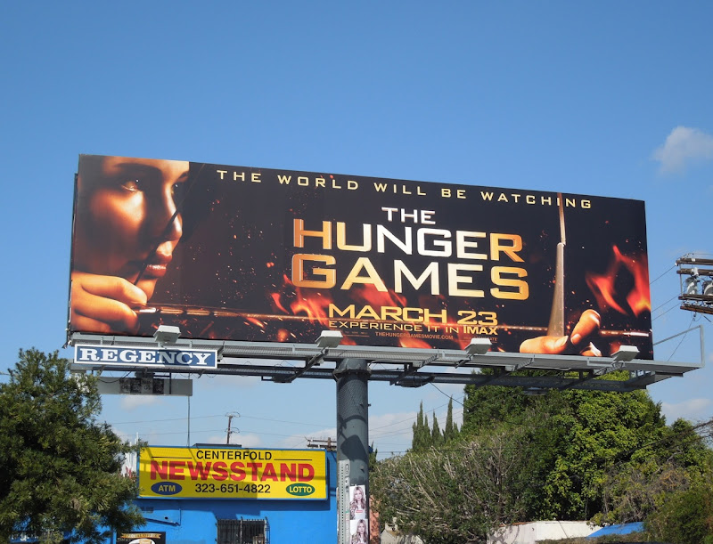 Hunger Games movie billboard