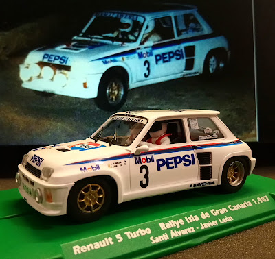 """Renault 5 Turbo Rally Isla de Gran Canaria 1987 """"El Corte Inglés"""" Flyslot"""