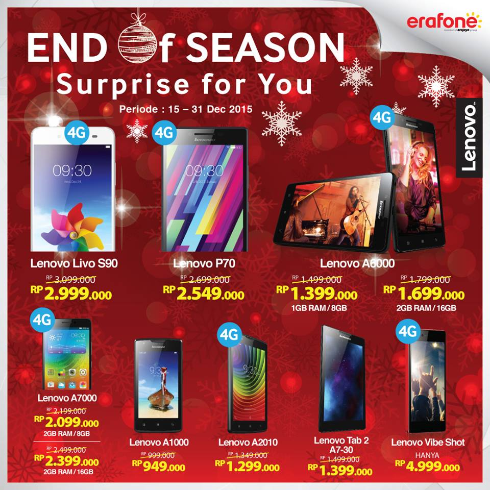 End Of Season Promo Smartphone dan Tablet Lenovo Akhir Tahun 2015 di Erafone aa4188dd21