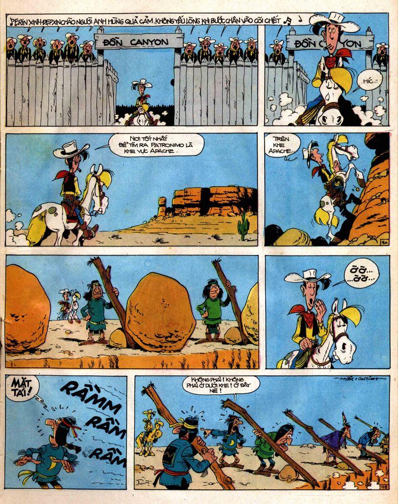 Lucky Luke tap 12 - khe vuc apache trang 9