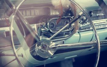 Wallpaper: Vintage Car Model. Inside Cadillac