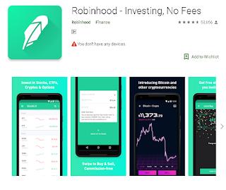 Ulasan Aplikasi Broker Robinhood - Investing, No Fees Di Android