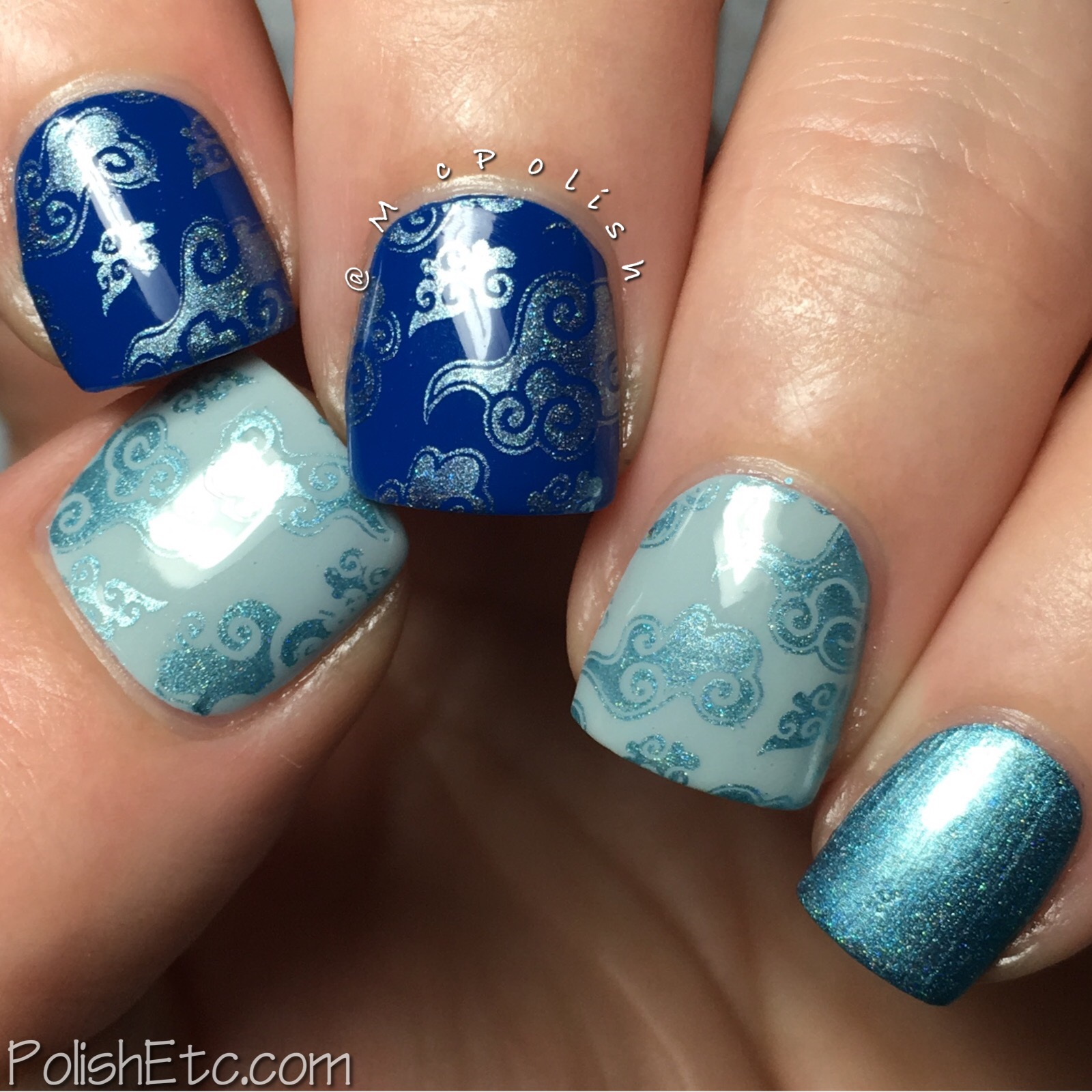Celestial Cosmetics stamping polishes for Color4Nails - McPolish - Azure