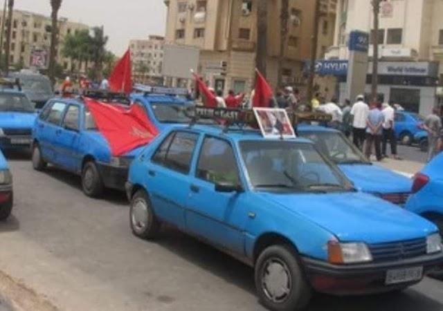 سيارات الأجرة الصغيرة ببرشيد .. بين حق الإضراب و الإجبار على الإضراب