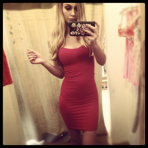 Alyssa-Cunningham-In-Red-Dress