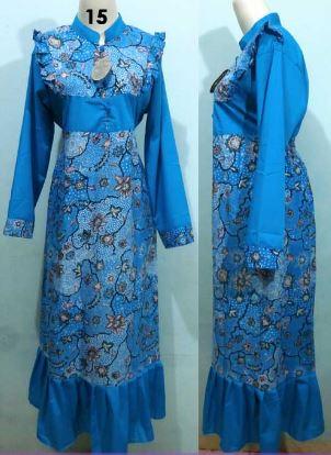 Gamis batik untuk acara pesta cantik modis