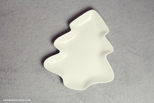 talerz w kształcie choinki