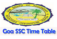 Goa SSC Time Table