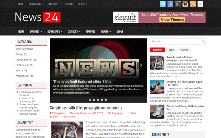 News24 Free Blogger Template