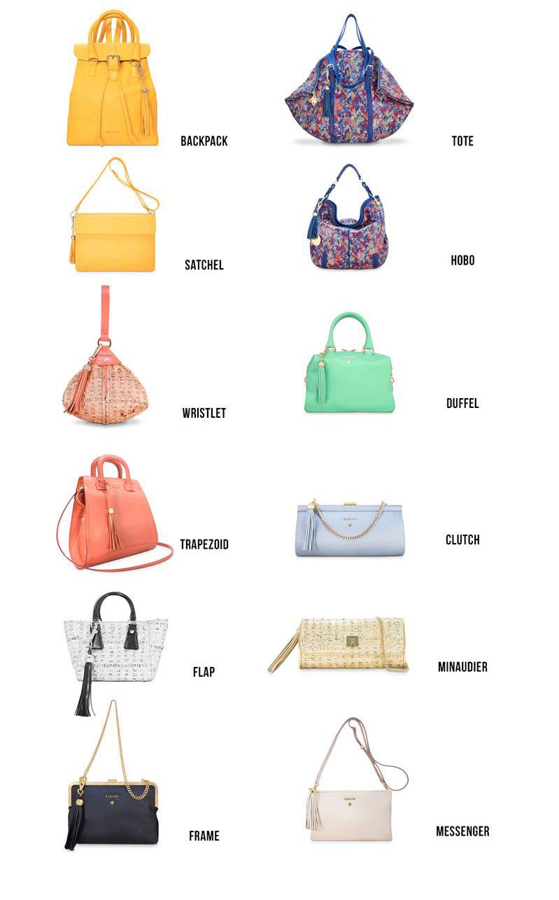 Nombres de bolsos