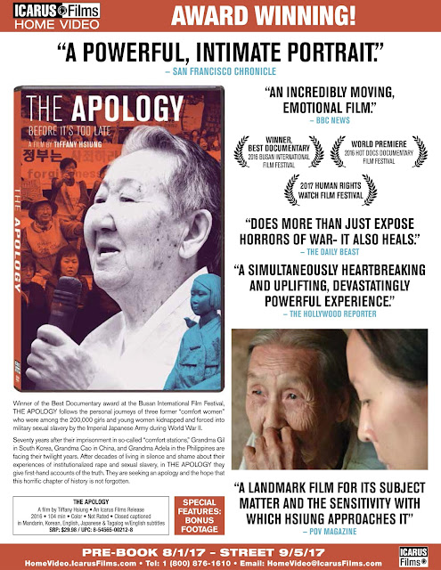 Icarus Films Sets The Apology For DVD Release On Sept. 5 And Cinema Novo Arrives On DVD On Sept. 19