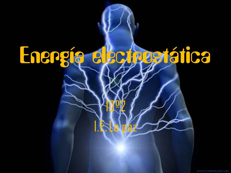lenergia elettrostatica