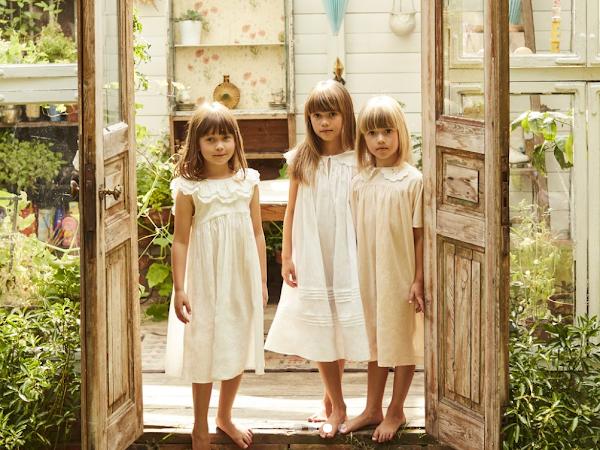 Los preciosos camisones y pijamas infantiles vintage de Faune