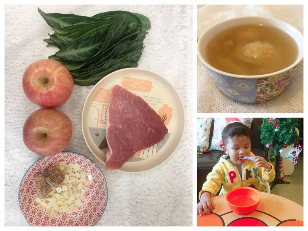 【食譜】化痰止咳美味湯水※龍脷葉蘋果瘦肉湯*合1y+|80後媽媽