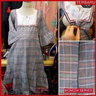 MOM234D24 Dress Hamil Menyusui Modis Scarlet Dresshamil Ibu Hamil