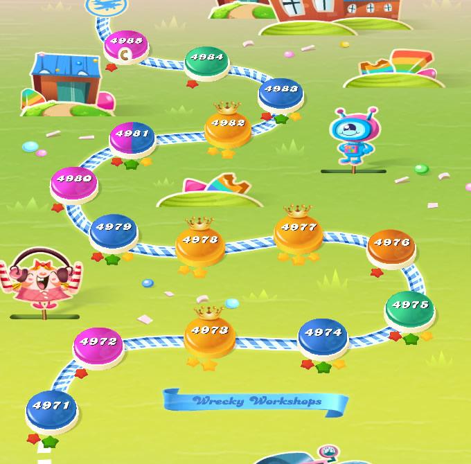 Candy Crush Saga level 4971-4985
