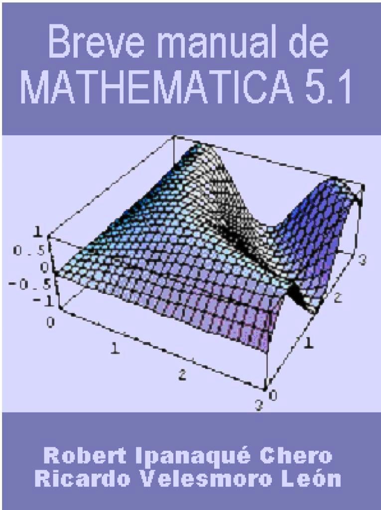 Breve manual de MATHEMATICA 5.1 – Robert Ipanaque Chero