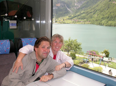 Memorable Eurail moments with husband. Photograph of Janie Robinson, Travel Writer