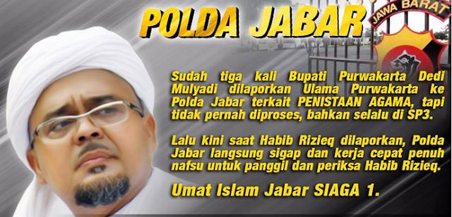 Siaga 1, Umat Islam Siap Turun ke Jalan Kawal Habib Rizieq ke Polda Jabar