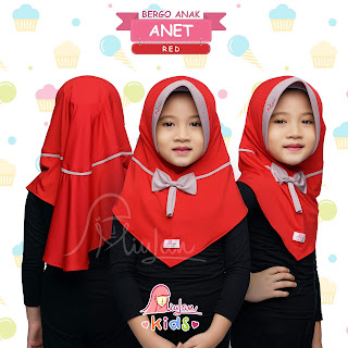 Jilbab Anet Miulan Hijab Kerudung Lucu Untuk anak