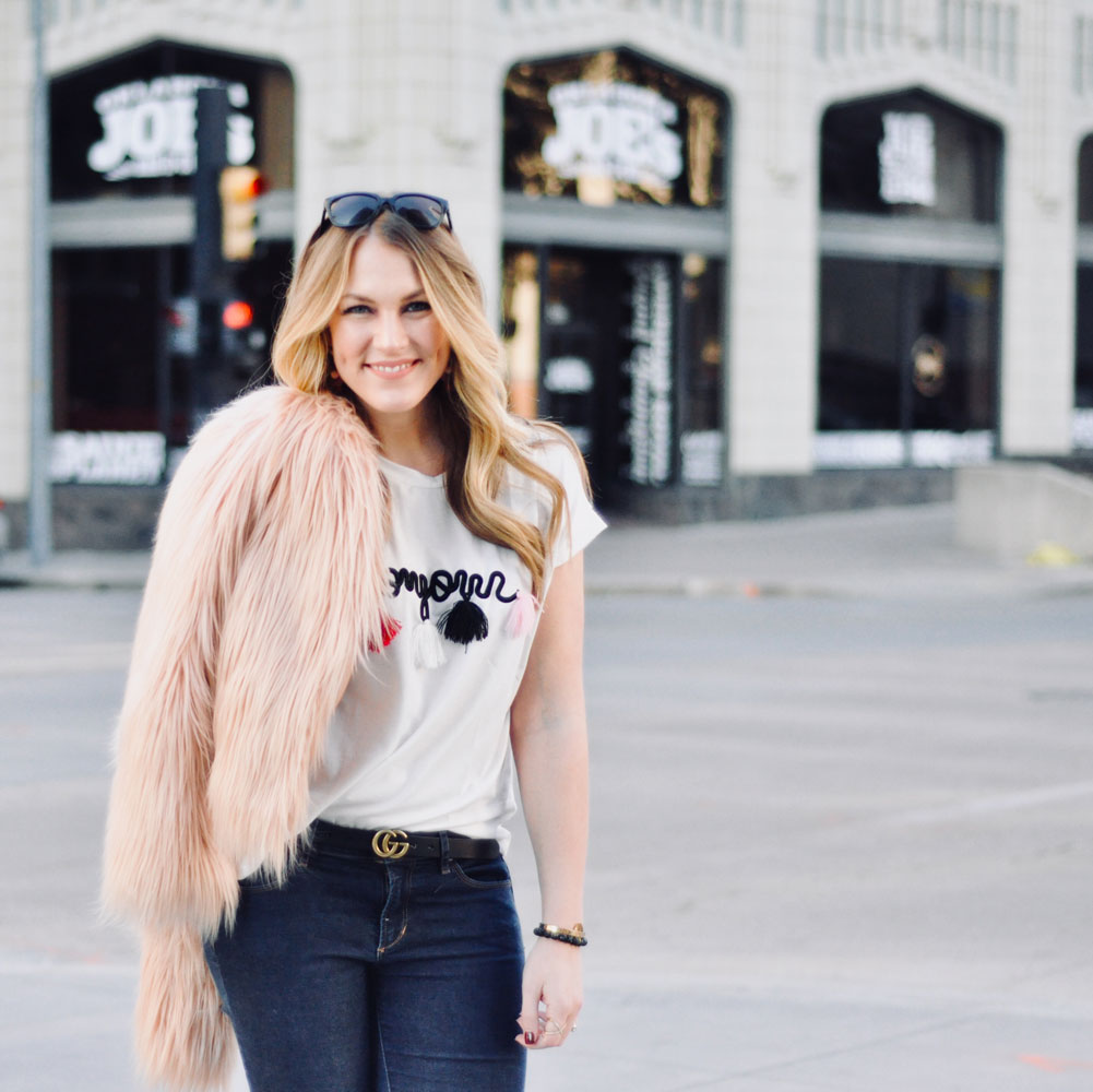 faux fur and tassels