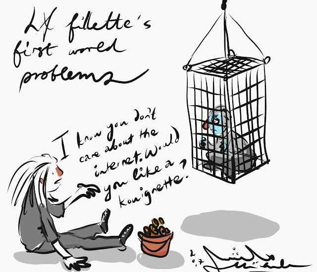 Cartoon of la fillette punishment cage