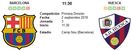 Barcelona vs Huesca en VIVO
