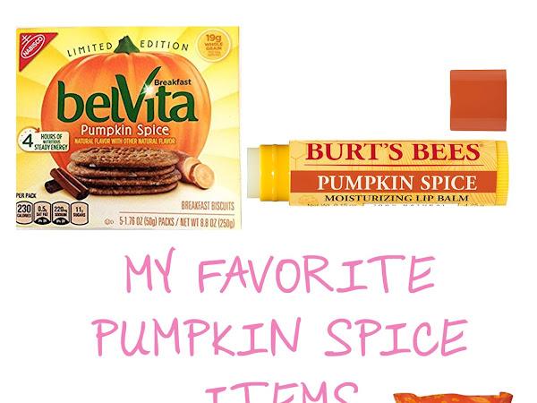 My Favorite Pumpkin Spice Items