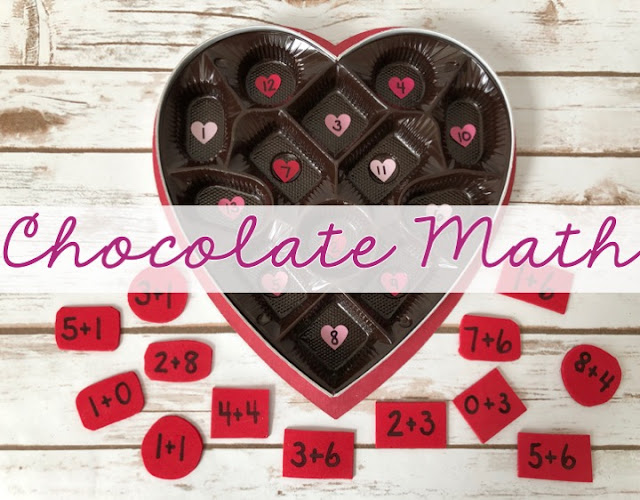 Chocolate math is a fun and easy way to get students to practice their math facts. Perfect for February and Valentine's Day!