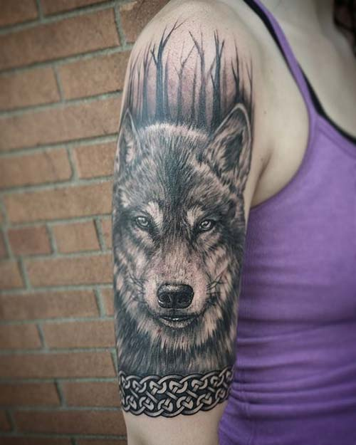 kurt kadın kol dövmeleri wolf arm tattoo for woman