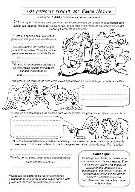 Matrimonio Segundo A Biblia : Parroquia la inmaculada navidad fichas para niños