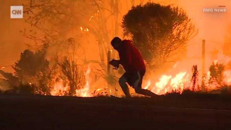[Video] Seseorang Menyelamatkan Seekor Kelinci Di Tengah Kebakaran Hutan Di Amerika