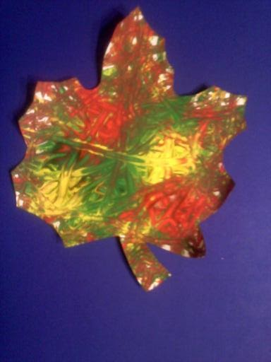 Crafts For Preschoolers Leaf Marble Painting