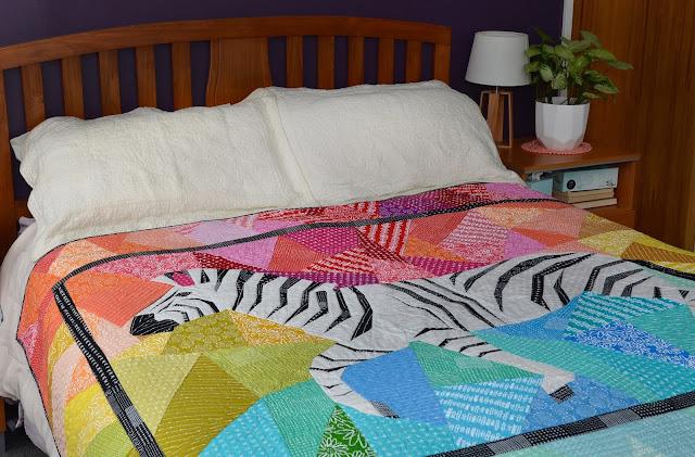 running zebra quilt