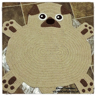 Crocheted Pug Rug