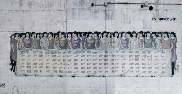New Street Art By Hyuro For The International Day for the Elimination of Violence against Women in Terracina and Formia, Italy
